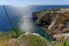 Malta seascape blue grotto Royalty Free Stock Photo