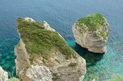 Limestone rocks of Corsica Stock Images