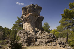 Limestone Rocks in cuenca, Spain. Callejones de Majadas is a geological site near of the city of Cuenca, Castile La Mancha, Spain in which the erosive forces royalty free stock image