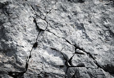 Limestone rocks with fissures Stock Images