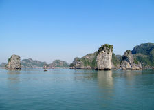 Limestone rocks in Ha Long bay royalty free stock image