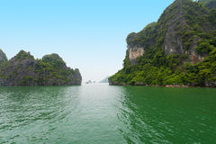 Limestone rocks in Ha Long Bay, northern Vietnam Stock Photos