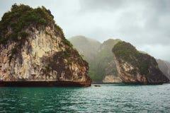 Limestone rocks at Ha Long Bay Vietnam. Limestone rocks at Ha Long Bay, Vietnam stock image