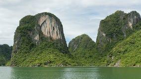 Limestone rocks in Halong Bay, Vietnam Stock Image