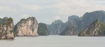 Limestone rocks in Halong Bay, Vietnam Stock Photography