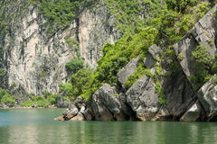Limestone rocks in Halong Bay, Vietnam Royalty Free Stock Photo