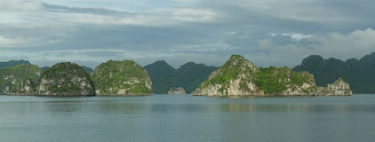 Limestone rocks in Halong Bay, Vietnam Royalty Free Stock Images