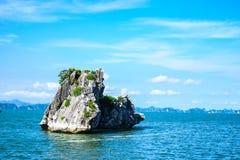 Limestone rocks in Halong Bay, Vietnam Stock Photo