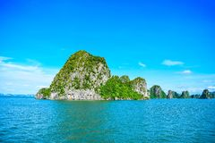 Limestone rocks in Halong Bay, Vietnam Stock Images