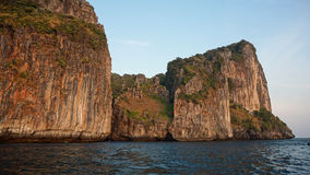 Limestone rocks in thailand Royalty Free Stock Photography