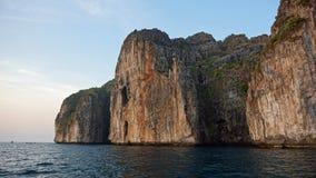Limestone rocks in thailand Stock Photo