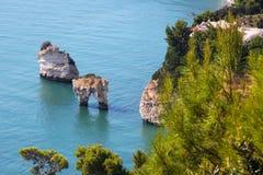 Limestone´s cliffs Royalty Free Stock Photos