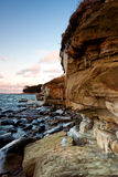 Limestone and sandstone cliff Stock Image