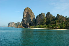 Limestone scarps, Krabi, Thailand Royalty Free Stock Photo