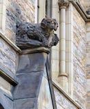 Limestone sculpture of a Bighorn Sheep. Royalty Free Stock Photos