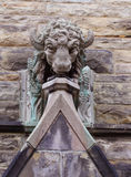 Limestone sculpture of buffalo Royalty Free Stock Photography