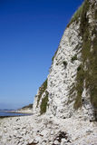 Limestone sea cliffs Royalty Free Stock Photography