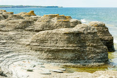 Limestone sea stacks Royalty Free Stock Photography