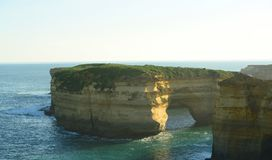 Limestone stacks at 12 Apostles Royalty Free Stock Image