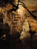 Limestone stalactites drip in strange formations Stock Photography