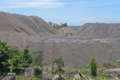 Limestone stockpile Stock Photo
