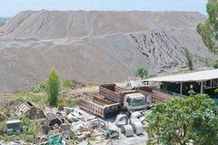 Limestone stockpile Royalty Free Stock Photo
