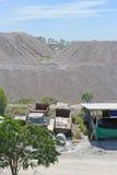 Limestone stockpile Stock Photography