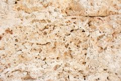 Limestone surface in an old Spanish Colonial Fortress Stock Photo