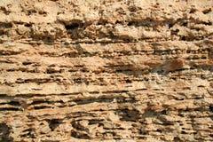 The limestone texture. Rocky cliffs, the Black Sea coast, Cremia, Ukraine Stock Image
