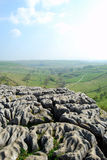 Limestone texture on the top of Malham Cove (UK) Royalty Free Stock Image