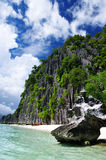 Limestone Tower. One of the many limestone towers/cliffs in Coron, Palawan, Philippines stock photo