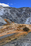 Limestone travertine deposits at mammoth Hot Springs Royalty Free Stock Images