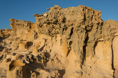 Limestone tubes landscape in Cape Bridgewater, Australia Royalty Free Stock Photos