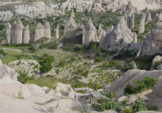 Limestone valley in Cappadocia Stock Photos