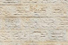 Limestone wall. Detail of a wall made of rectangular blocks of limestone Stock Photos