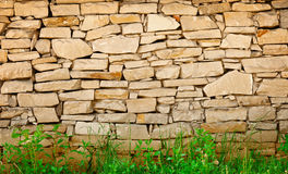 Limestone wall background Stock Photos