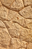 Limestone Wall Close View. Royalty Free Stock Photos