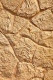 Limestone wall close view. Royalty Free Stock Photos