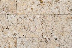 Limestone wall. External wall made from big blocks of limestone Stock Image