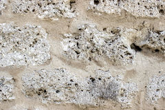 Limestone wall Royalty Free Stock Photo