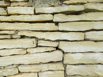 Limestone wall Royalty Free Stock Photos