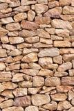 Limestone wall. Natural rough limestone wall pattern Royalty Free Stock Photos
