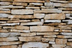 Limestone wall - suhozid Royalty Free Stock Photography