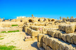 The limestone walls Royalty Free Stock Images