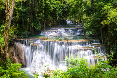 Limestone waterfalls, Huay mae khamin Stock Photo