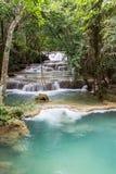 Limestone waterfalls, Huay mae khamin Royalty Free Stock Images