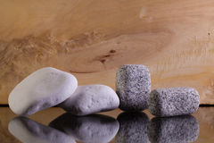 Limestones and granite stones Stock Photography