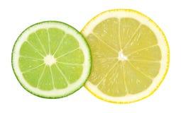 Limetta e limone Immagine Stock
