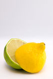 Limetta e limone mezzi Immagine Stock Libera da Diritti