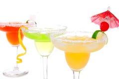 Limette, composition de cocktails de Margaritas de pomme Photos stock
